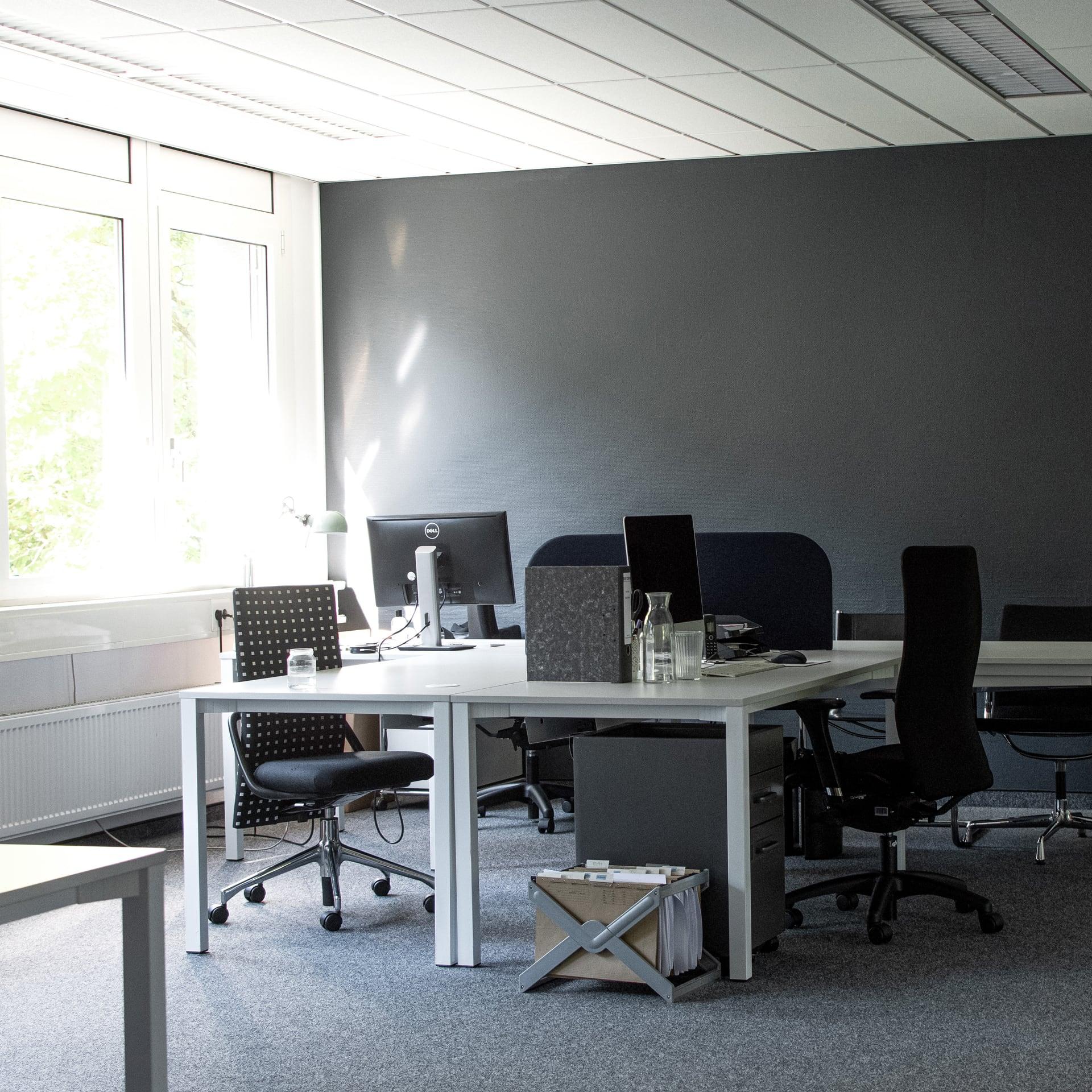 Büro Team Blue Arbeitsplatz