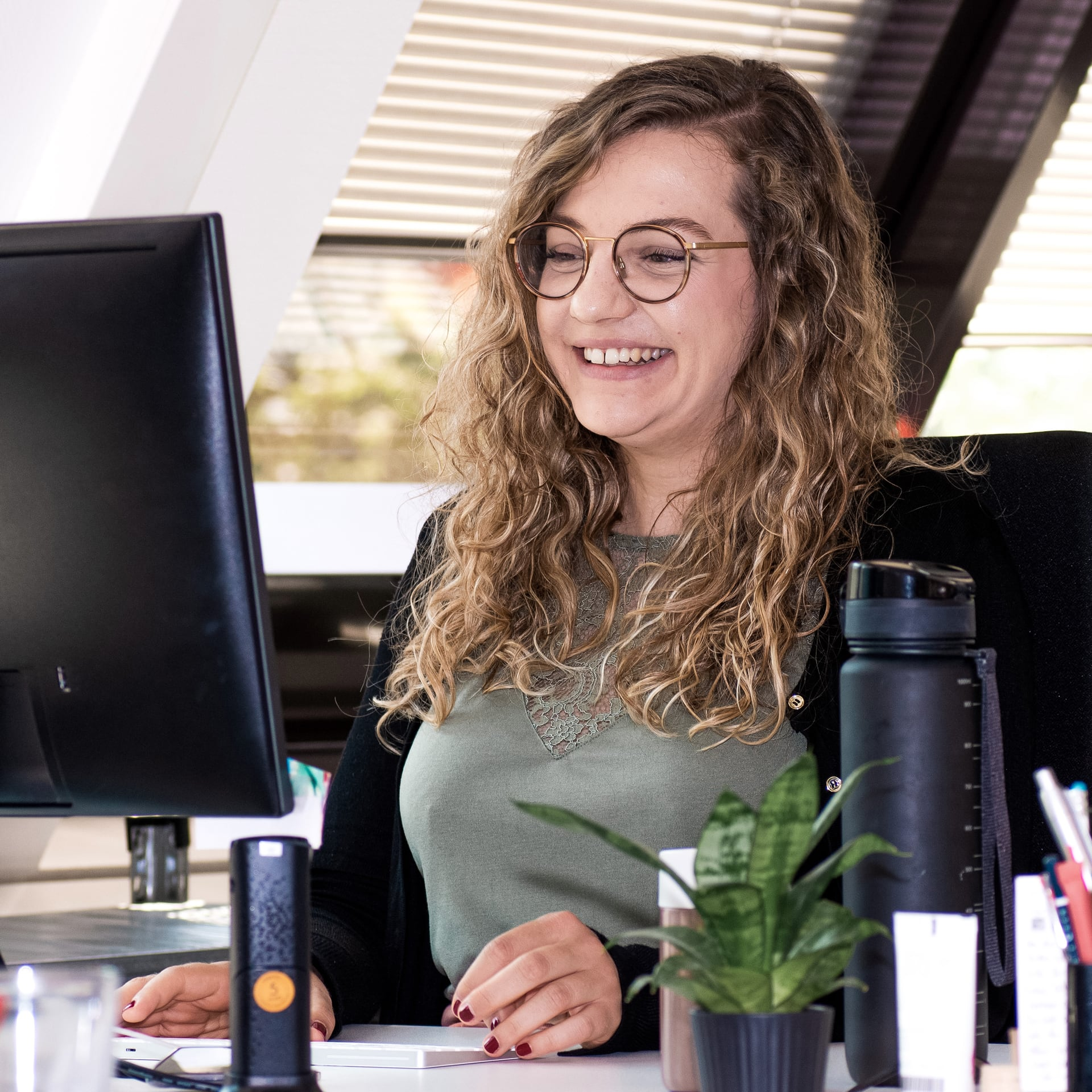 Mitarbeiterin Arbeitsplatz Patricia